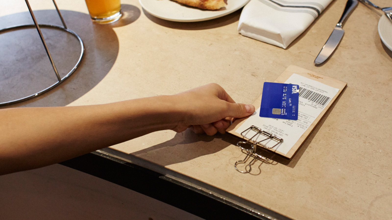 Paying bill with Visa card