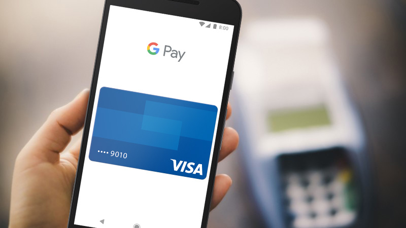 Google Pay with Visa on Android phone