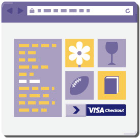 Visa Checkout - look for the button