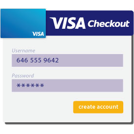 Visa Checkout - create username and password